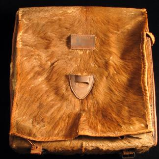 calfskin knapsack of pvt john s greer (86.12.44)