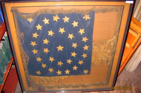 Fragment of battle flag of 118th PA volunteer infantry (86.2.68)